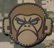 ANGRY MONKEY FACE LOGO RUBBER PVC MILSPEC ACU LIGHT VELCRO® BRAND FASTENER PATCH