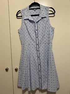 Yumi Size 14 Vintage Sailor Blue A Line Dress