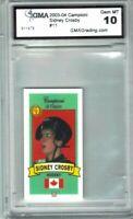 Sidney Crosby 2003 Campioni Di Futuro Red GMA graded 10