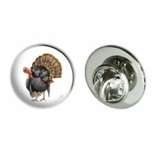 "Tom the Awesome Wild Turkey Metal 0.75"" Lapel Hat Pin Tie Tack Pinback"