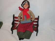 Byers Choice 2008 30th Anniversary Apple Lady on Bench Retired