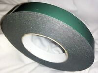 19mm x 10M Tape BLACK Double Sided Foam Waterproof Number Plate Sticky Adhesive
