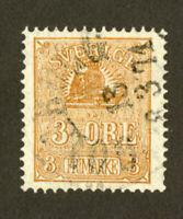 Sweden Stamps FACIT #14B VF Used