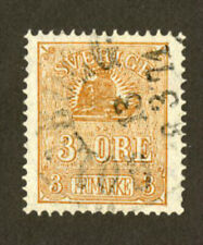 Sweden Stamps Facit #14B Vf Used