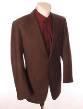 SARTORIA RAVAZZOLO Men's Brown Check Wool Blazer Suit Jacket 54 R 6 42'' Chest