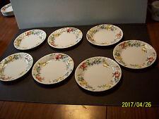 7 Chutney Corelle  Corning chutney Fruit Swirl Pattern desert plates