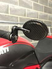 Ducati Diavel bar End Mirrors Carbono Rojo Redondo Azul A Rayas Negro Amg Stealth