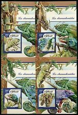 Djibouti 2017 Chameleons Set Of Four Souvenir Sheets Mint