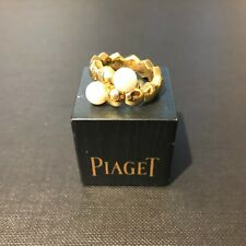 Piaget 18ct Yellow Gold Glancy Ring with Two Pearls