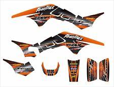 TRX 250R Graphics 250 R custom decal sticker kit #3333 Orange