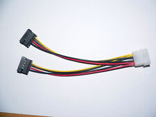 4 Pin Molex to 2x 15 Pin Serial ATA SATA  Female Power Cable