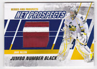 10-11 ITG Jake Allen /6 Jumbo NUMBER PATCH Heroes & Prospects Montreal 2010