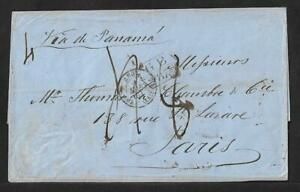 PERU TO FRANCE STAMPLESS COVER DUE 1861