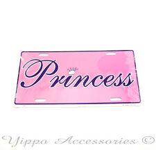 Princess Pink  Aluminum Metal License Plate Sign Tag NEW Free Shipping