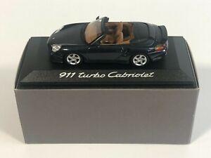 MINICHAMPS Constructor Porsche 911 Turbo Cabriolet Bleu 1/43 Voiture Miniature