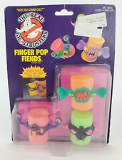 VINTAGE 1989 Kenner The REAL GHOSTBUSTERS RARE Finger Pop Fiends Clear bubble
