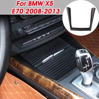 For BMW X5 E70 2008-2013 Carbon Fiber Water Cup Holder Interior Cover Trim Decor