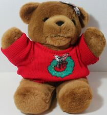 Aeropostale CHRISTMAS GIRL TEDDY BEAR WREATH SWEATER Stuffed Animal Plush TOY