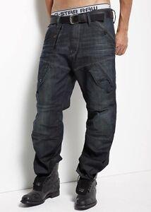"""G-Star Raw Mens Scuba 5620 Loose Jeans 28"""" x 34"""" BNWT Walker Denim Travis Wash B"""