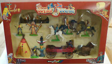 Britains Wild West Buck Wagon Action Set, Cowboy und Indianer,7421, Maßstab 1/32