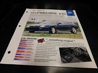 1999 Honda Prelude VTi Spec Sheet Brochure Photo Poster