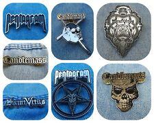 Candlemass Pentagram Saint Vitus pin badge doom metal black sabbath