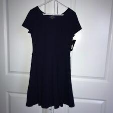 POLO Ralph Lauren Navy Blue Dress Girls Short Sleeve Pleat Skirt Medium 8-10