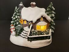 2002 Thomas Kinkade Painter of Light A Village Christmas Teleflora Cottage