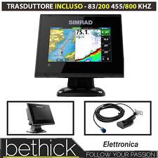 ECHO SOUNDING MAPPING GPS SIMRAD GO 5 XSE CHIRP TRANSDUCER 83/200 455/800