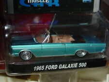 Greenlight 1965 65 FORD GALAXIE 500 CONVERTIBLE SPEED SERIES -Blue, MIP