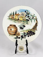 NWT Ceramica Cuore Cheese/ Antipasti Plate Cutting Board Trivet ~ Tuscany Olives