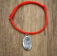 Pulsera San Judas Tadeo Patron De Lo Imposible Hombre Mujer Suerte Amuleto Rojo