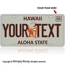 Custom Hawaii State License Plate Tag Personalized Hawaian Aluminum Old Style