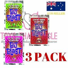 BJ BLAST 3x PACK ORAL SEX FLAVOURED CANDY Apple, Cherry & Strawberry Hens Bucks