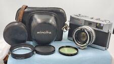 【Mint w/Hood】  Minolta Hi-Matic 7s Rangefinder Camera 45mm f1.8 FROM JAPAN #1064