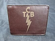 Elvis TCB men's leather bi fold wallet