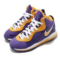 Nike LeBron VIII PS 8 Lakers James LBJ Purple Gold Kid Preschool Shoe CT5114-500