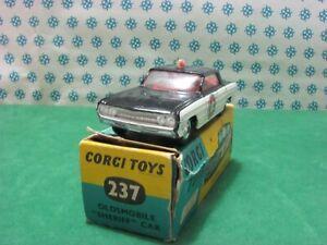 Vintage - Oldsmobile Super 88 Sheriff Car - Corgi Toys 237 - MIB