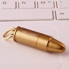 EDC Mini Gear Fire Flint Bullet Cigarette Cigar Lighter Key Ring Camp Survival