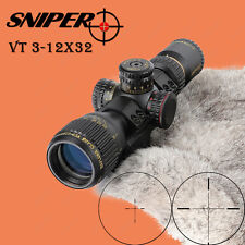 SNIPER VT 3-12X32 Compact First Focal Plane Glass Etched Reticle Optical Sight