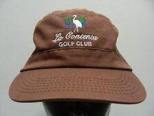 LA CONTENTA GOLF CLUB - ADJUSTABLE STRAPBACK CADET STYLE CAP HAT!