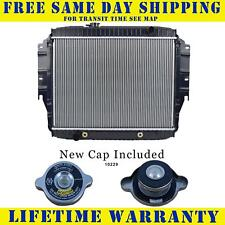 Radiator With Cap For Ford Fits Econoline Van E150 E250 E350 5.0 5.8 8Cyl 1456WC