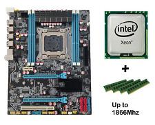 LGA 2011 ATX Intel Motherboard COMBO + 32GB DDR3 For Xeon E5 26xx 46xx v1/v2