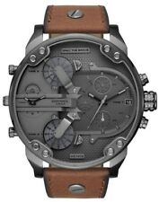2019 NEW Diesel Men's Mr. Daddy 2.0 Chronograph Brown Leather Quartz Steel Watch