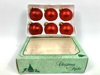 Vintage Christmas By Krebs Glass Tree Ornaments Red Set of 6