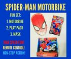 Spiderman Play Set Remote Control Motorbike, Mask, Play Pack Age 8+ BRAND NEW!