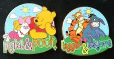 Piglet & Pooh And Tigger & Eeyore Disney Pins From Summer Day Starter Pin Set