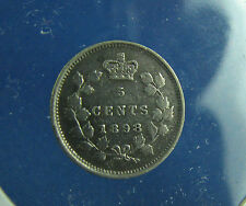 Canada 1898 5 cents very nice coin VF+