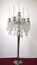 Sehr Schöne Alte Silber-Kristall  Kerzenleuchter, Kandelaber 7 Armig