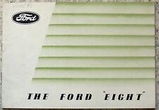 FORD huit & huit de luxe car sales brochure c1938-39 #X 5023/913